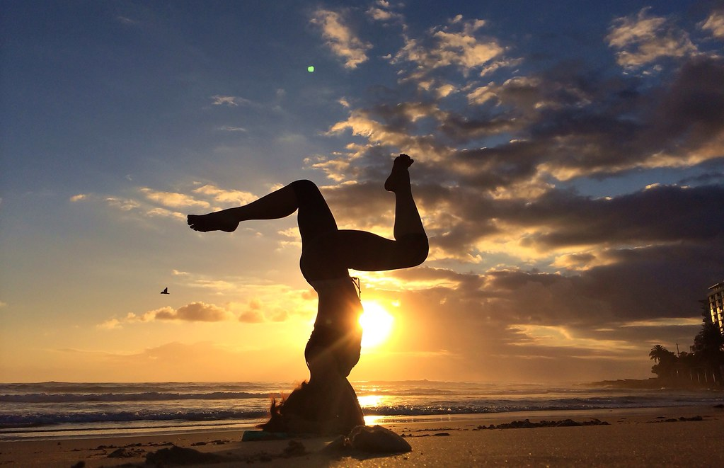 Dslr Camera With Girl Wallpaper Yoga On The Beach Sunrise Sunday 8th December 2013