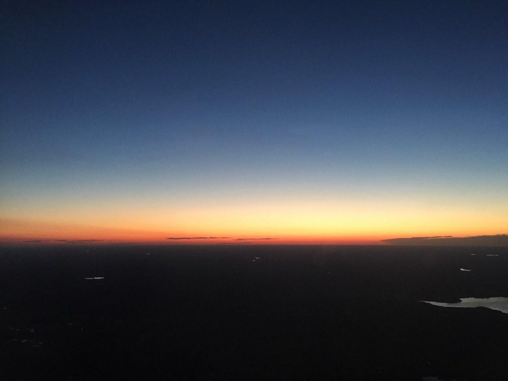 sunset sweden summer airplane