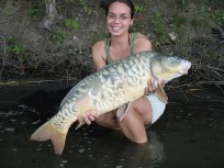 Photo of woman with large carp