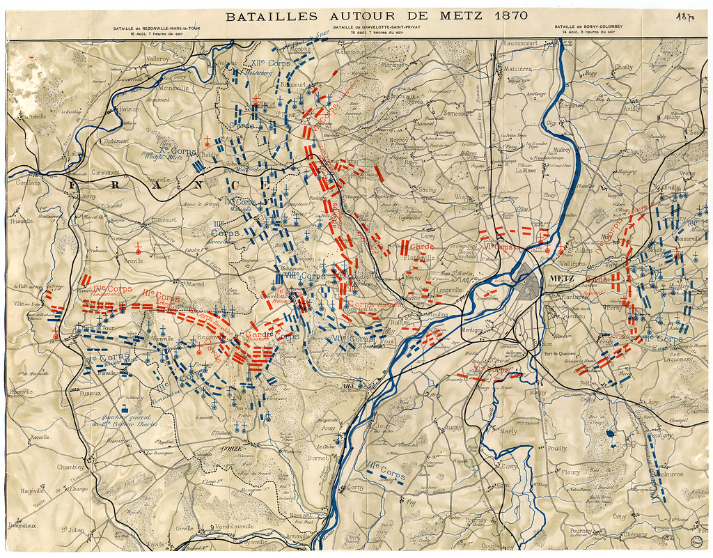 Batailles autour de Metz 1870  Cette carte prsente le mouv  Flickr