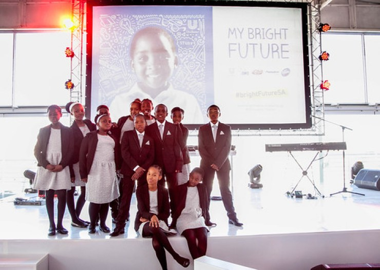 Children from schools in Alexandra took part in the event Supporting the BrightFuture of South African children