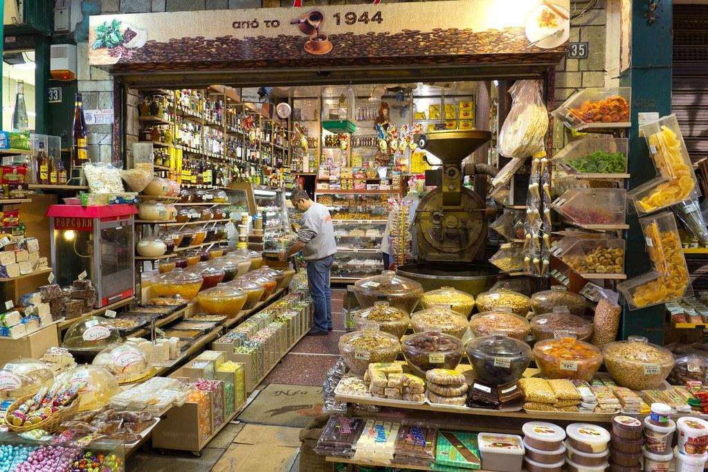 Thessaloniki Central market  Greece  Traditional Shop