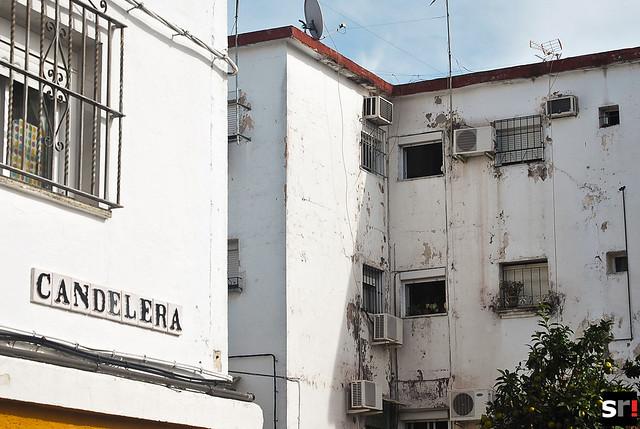 La calle Candelera, en Tres Barrios