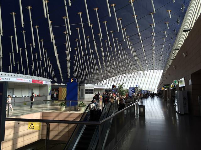 意外と広い上海空港