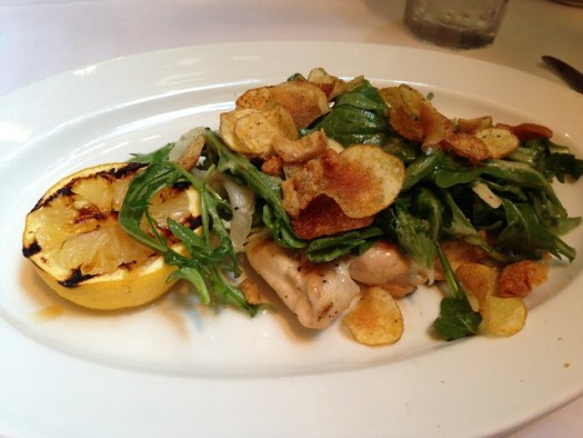 Yucky Chicken Paillard at Emeril's, New Orleans