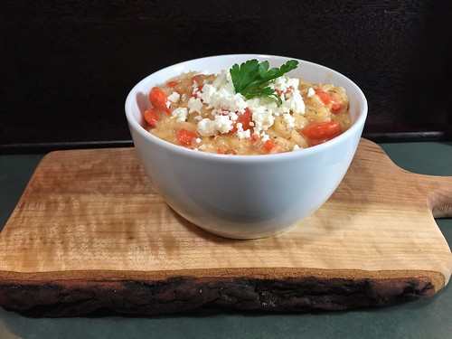 risotto with carrots and feta