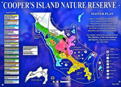 Cooper's Island Nature Reserve: the plan | Map and ...