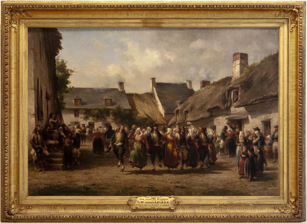LELEUX Adolphe 1863 Une noce en Bretagne  Adolphe LELEUX P  Flickr
