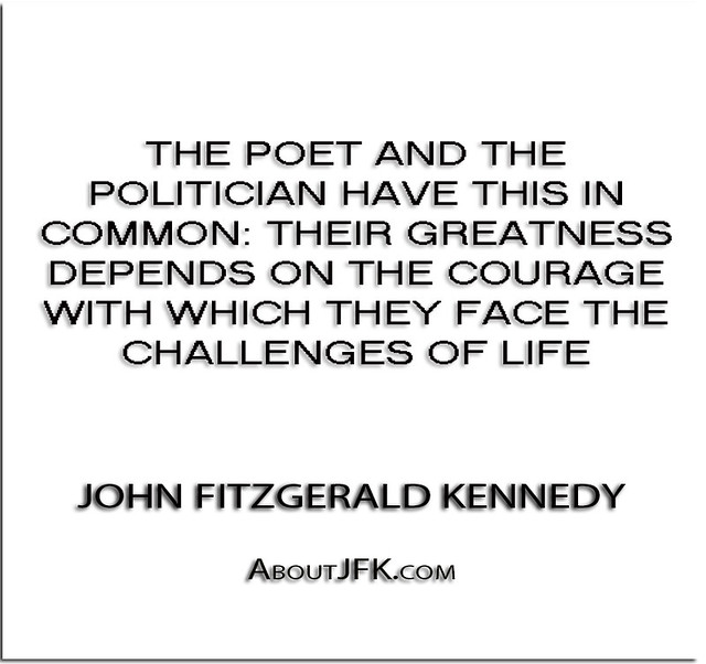 ''The poet and the politician have this in common- their