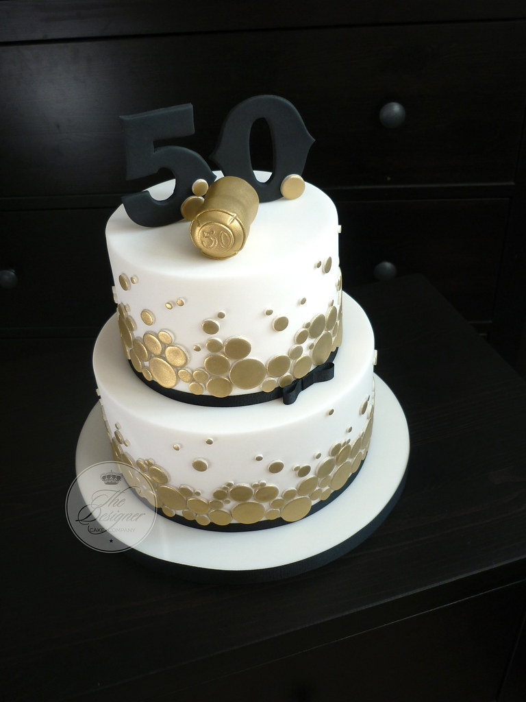 Champagne Themed 50th Birthday Cake The Brief For This