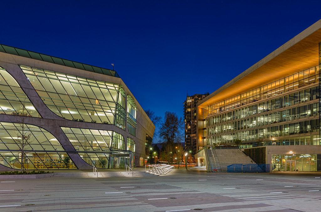 Surrey City Centre Library City Hall and City Hall Plaza