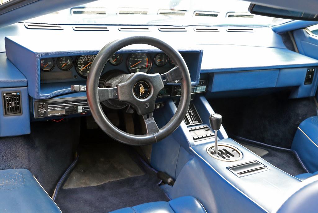 Lamborghini Countach Interior The Dashboard Of A