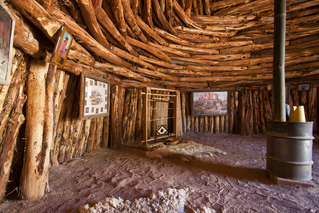 bluff fort navajo hogan interior  Traditional Navajo