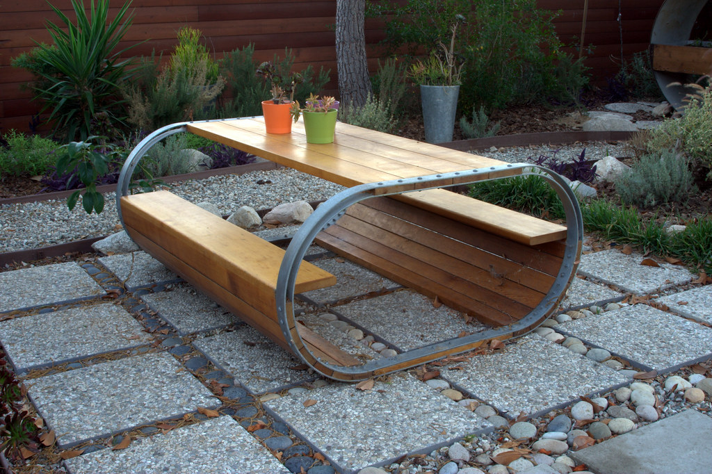 Baril Picnic Table  A picnic table inspired by a wine