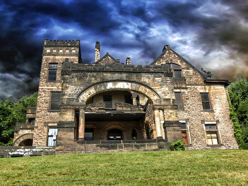 Sharon PA  Victorian Stone Mansion on The Hill  Abandone  Flickr