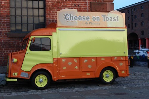 Cheese on Toast van, which presumably has car insurance.