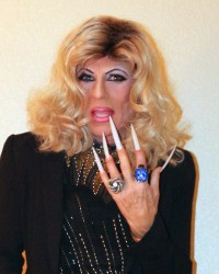 Cortney - A blonde with super long stiletto nails (being s ...