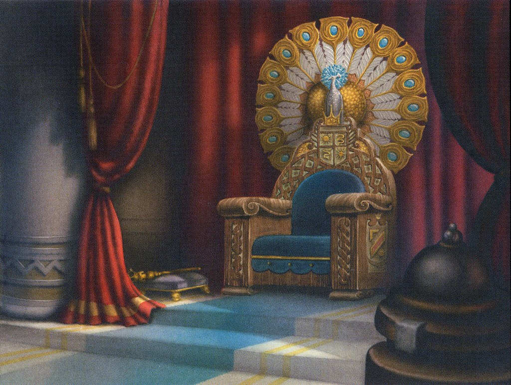 The Evil Queens throne from Snow White and the Seven Dwar