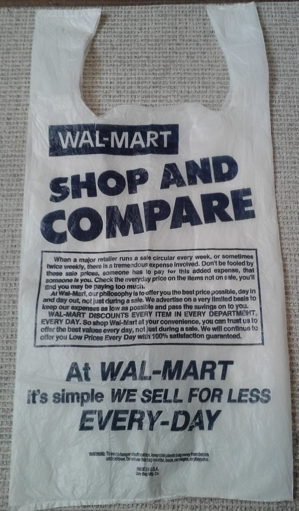 Late 1980s Walmart or should I say WalMart Bag  Flickr