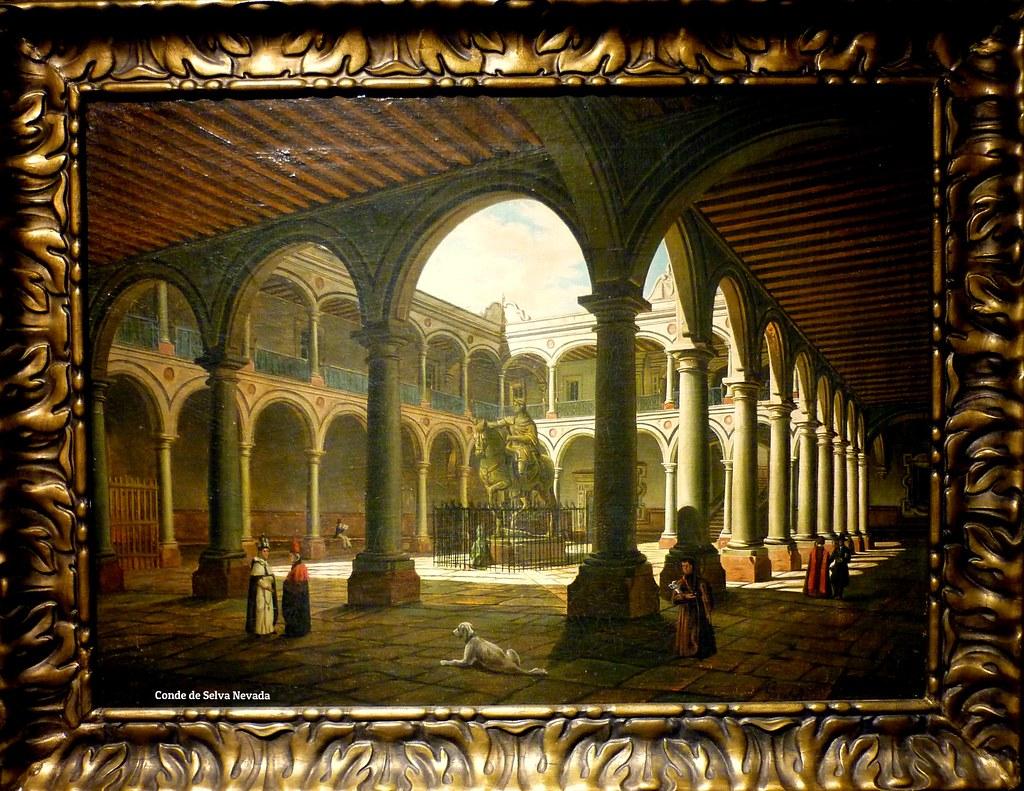 Interior De La Real Y Pontificia Universidad De Mxico