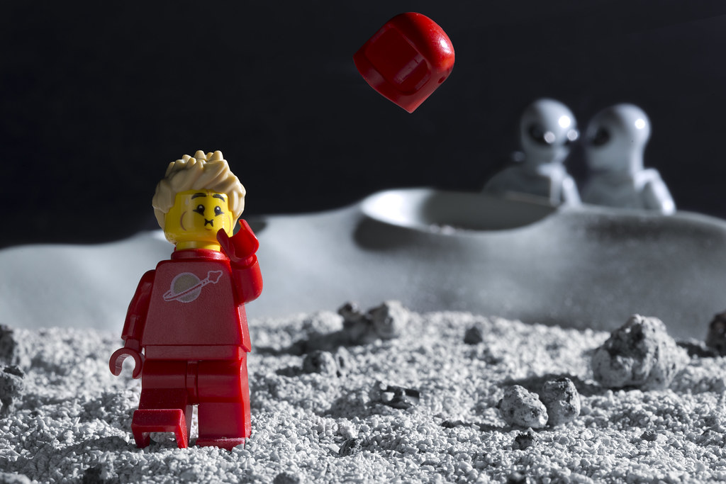 Cute Lego Stormtrooper Wallpaper Lego Astronaut What A Place For Your Helmet To Drift Off