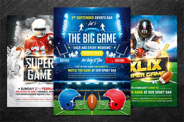 American Football Game Flyer Bundle PSD Template  America  Flickr