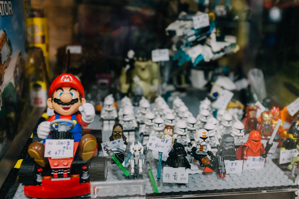 Figuras de Mario, Lego y Star Wars