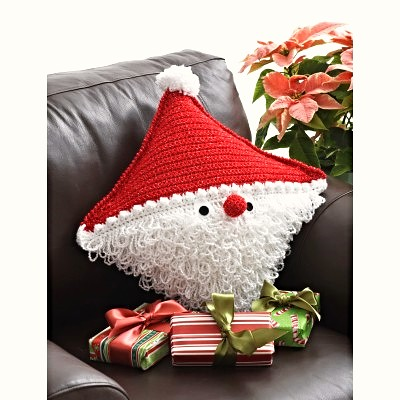 Free Crochet Santa Pillow Pattern