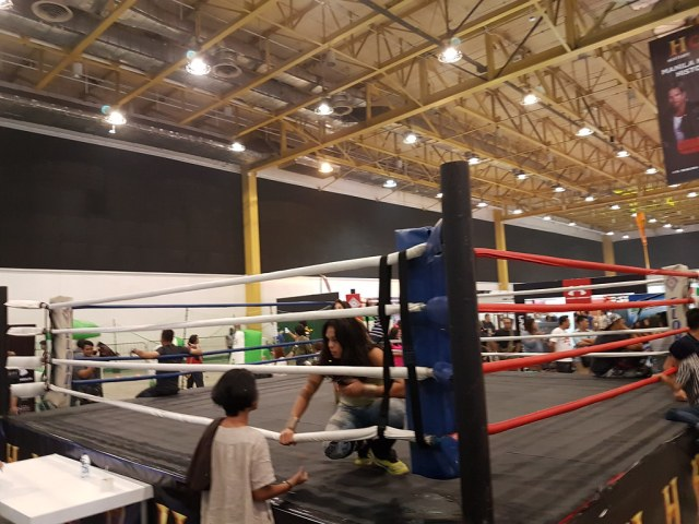 Yes, there's a boxing ring in the convention floor