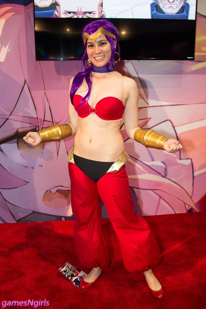 Shantae HalfGenie Hero cosplay  A cosplayer at E3 2016