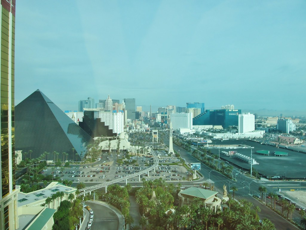 View from Mandalay Bay Hotel  Had to pay extra for a view