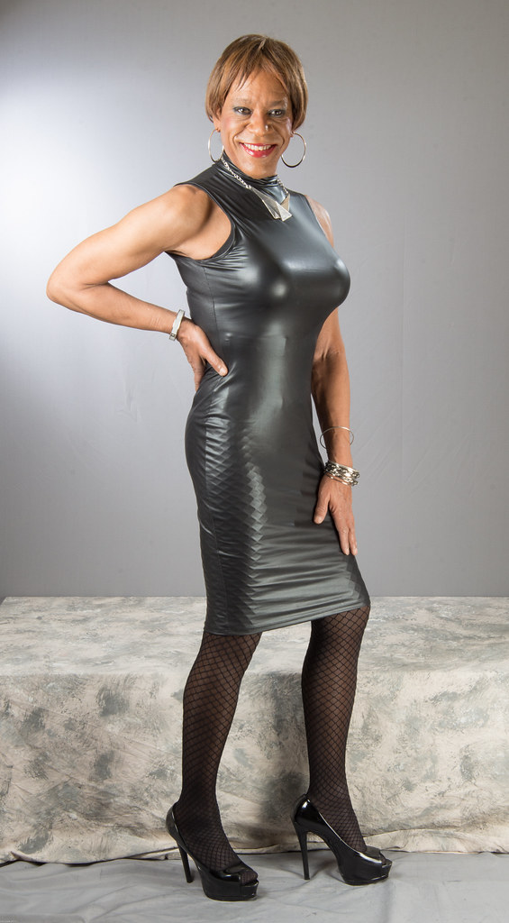 Tight  Shiny Black  This curve hugging wet look black