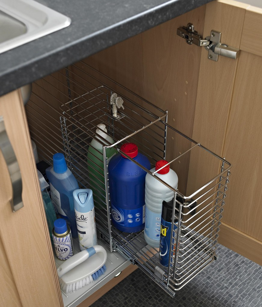 Kitchen storage under the sink  pullout solutions keep t  Flickr