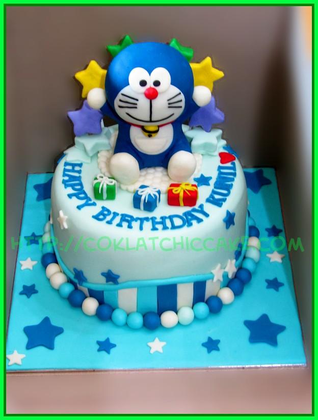Cake Doraemon Kunil Coklatchic Cake