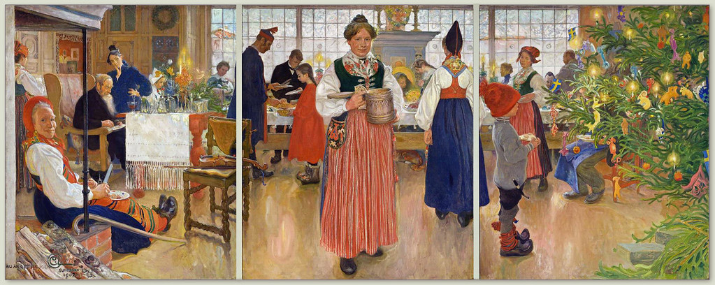 Carl Larsson Now Its Christmas Time Again an old Scand  Flickr