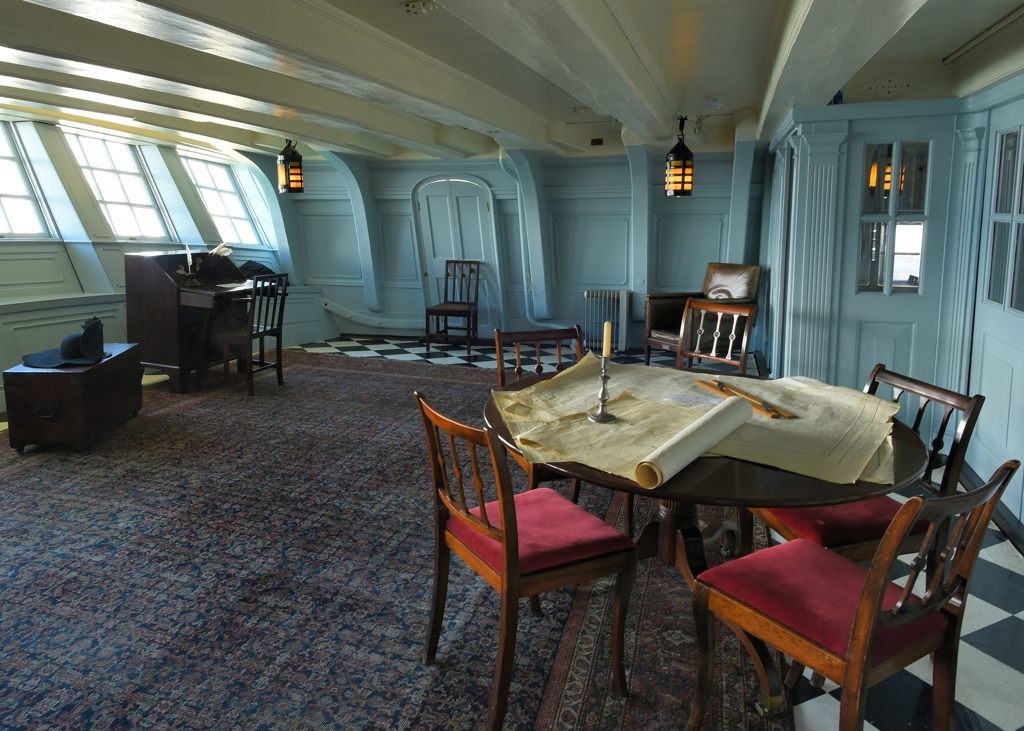 Captains cabin  HMS Victory is a 104gun firstrate ship o  Flickr