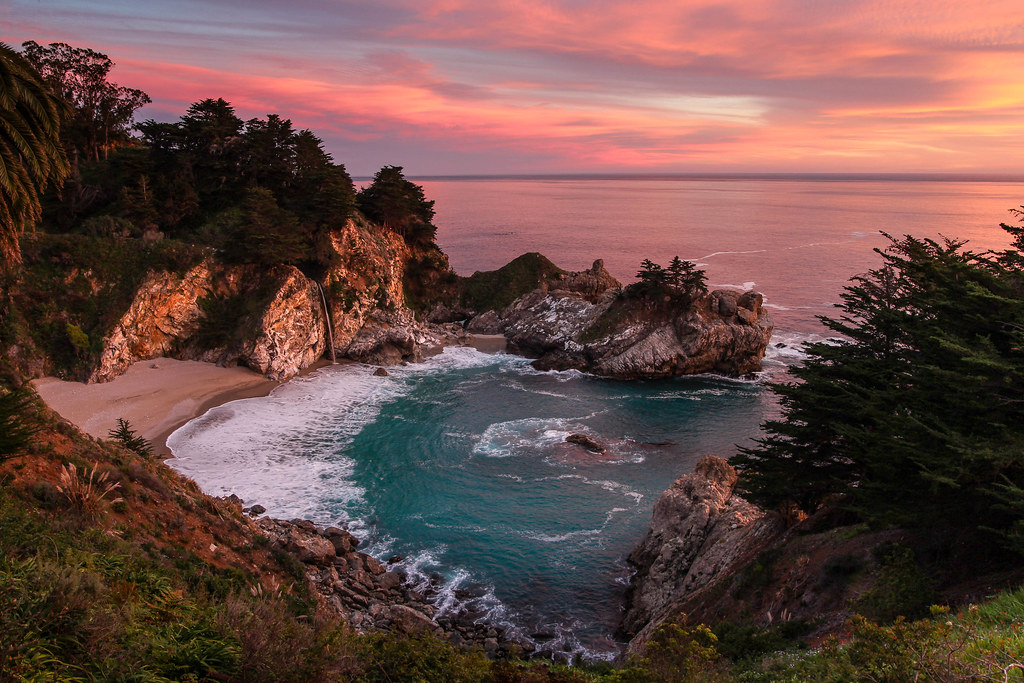 Fall Walk Wallpaper Sunset At Mcway Falls I M Convinced That The Secret To A