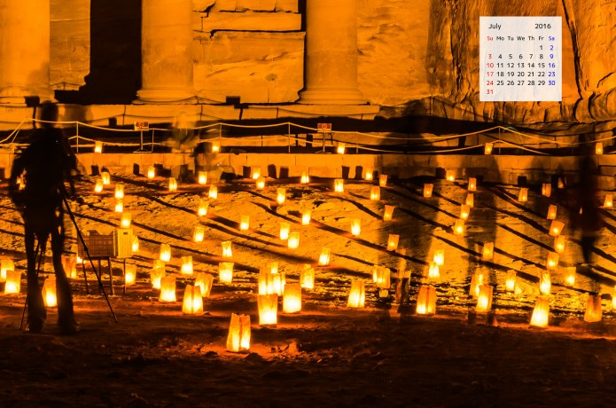 Desktop Wallpaper Calendar July 2016 Petra Jordan