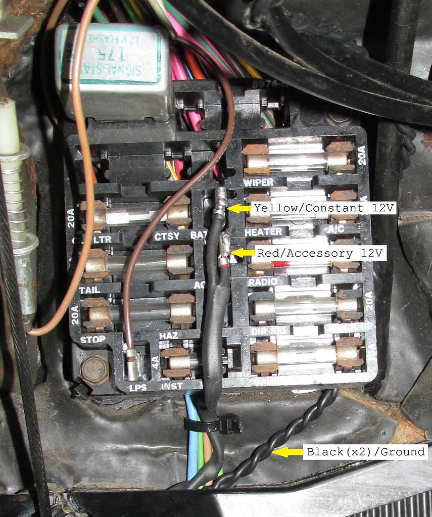 medium resolution of 1970 aftermarket radio plugs connectors for hackless 1968 el camino fuse box