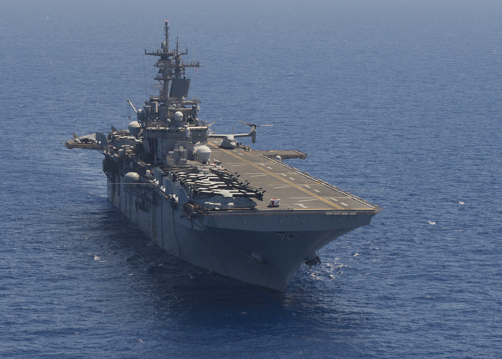 USS Wasp transits the Mediterranean Sea July 31 2016