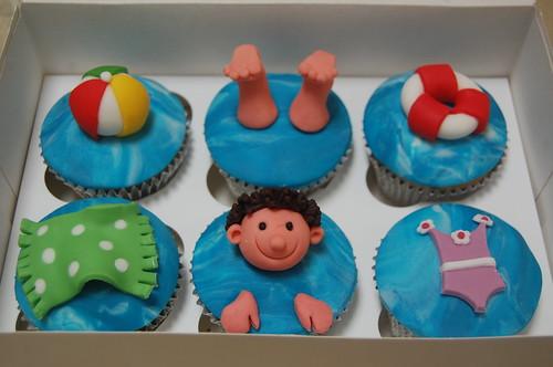Swimming Cupcakes Beautiful Birthday Cakes