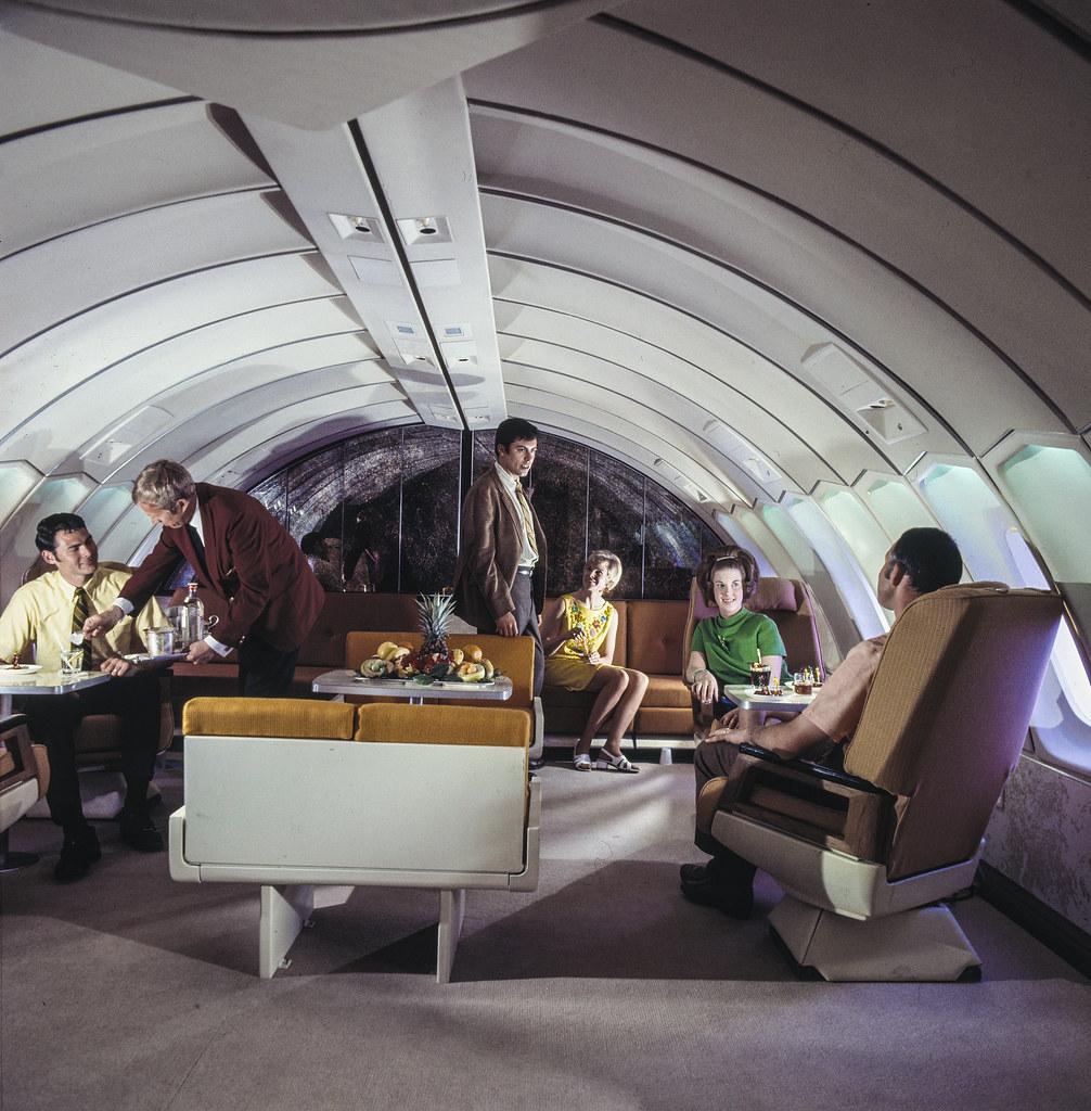 Boeing 747  SAS Boeing 747B Huge Viking Interior of cabin  Flickr
