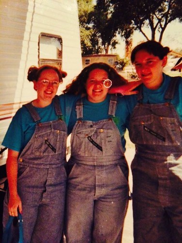 Emma: my sisters and I on harvest long ago! :)