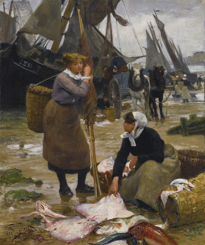 Victor Gabriel Gilbert  The Arrival of the Fishing Boats