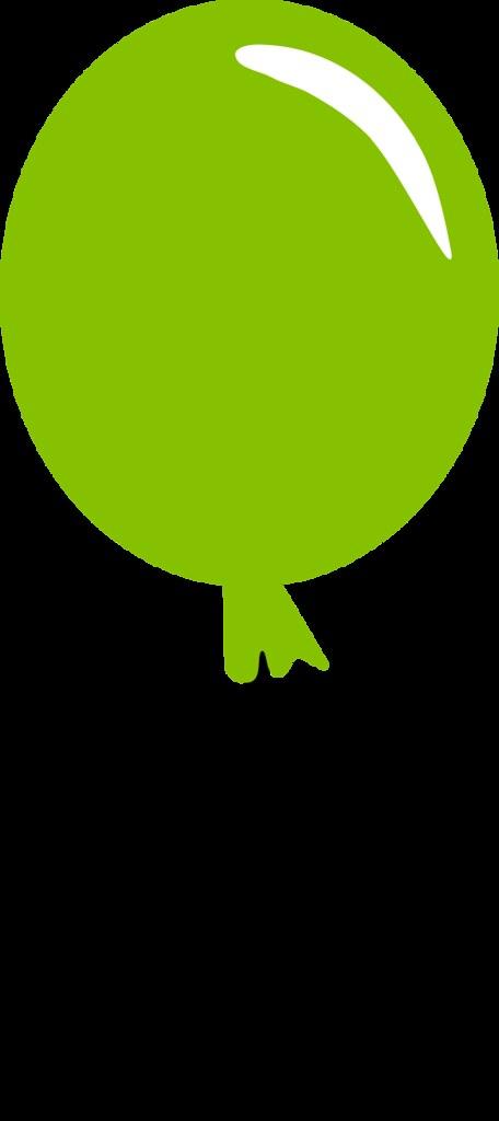 balloon green clipart