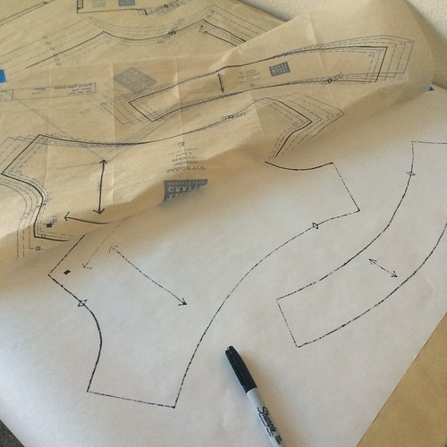 freezer paper pattern tracing