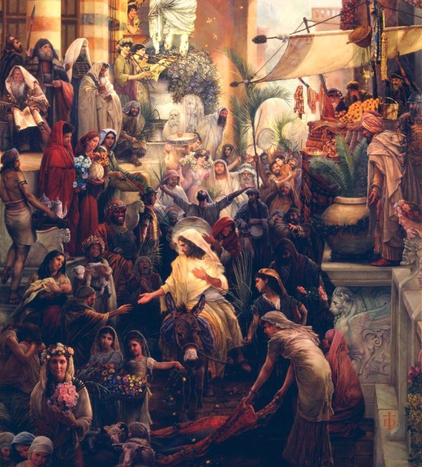 Triumphal Entry Painting