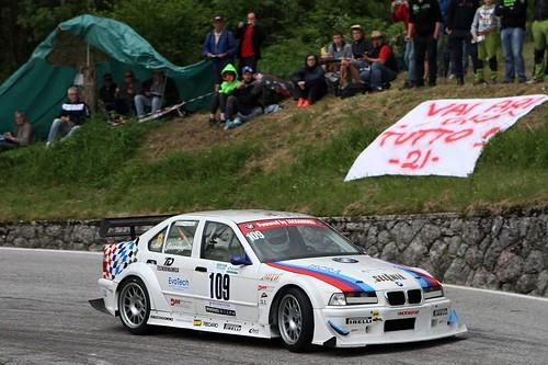 La BMW 320i di Iacoangeli in azione
