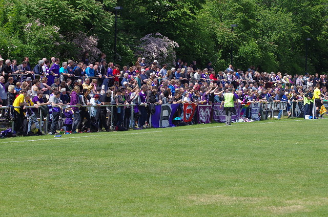 FC Internationale Berlin vs. Tennis Borussia Berlin: TeBe-Fans