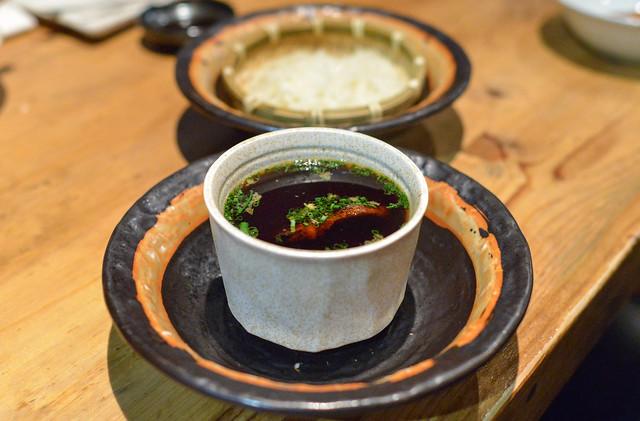 Udon Noodle with Foie Gras Egg Custard Soup